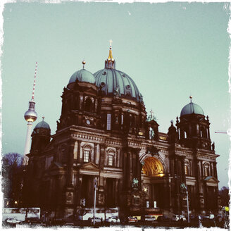 Berlin Cathedral and TV tower at Alexanderplatz. Germany, Berlin. - ZM000022