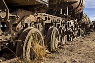 South America, Bolivia, Uyuni, train cemetery - STS000284