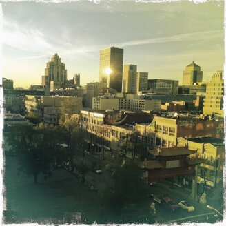 View on Montreal, morning light, old town district, Canada, Quebec, Montreal - SEF000228