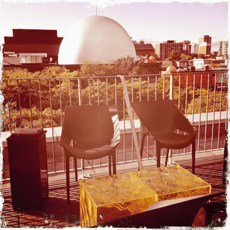 Hotel terrace in Montreal, Canada, Quebec, Montreal - SE000237