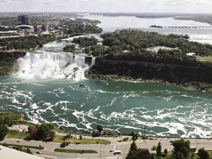 American Niagara Falls from Skylon Tower, Canada, Ontario, Niagara Falls - SEF000257