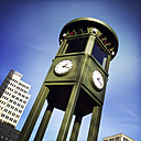 Rebuilt very first traffic light of Germany, at Potsdamer Platz, Germany, Berlin, - ZMF000044
