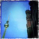 TV tower at Alexanderplatz and Rotes Rathaus, Germany, Berlin - ZMF000039
