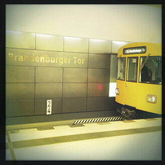 Underground station of line 55, connecting the Brandenburg Gate with the main station, Germany, Berlin, - ZM000051