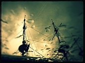 City, harbor, sailing ship, maSt. sky, clouds, rain, Amsterdam - FMK001133