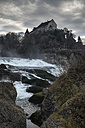 Switzerland, Canton of Schaffhausen, View of Rhine Falls with Laufen Castle - ELF000777