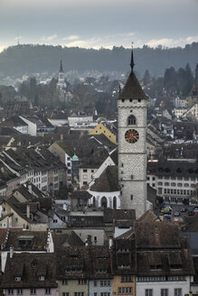 Switzerland, Canton of Schaffhausen, Schaffhausen, old town and church - ELF000775