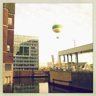 Gas station for alternative energy, gas balloon, Deichtor Center, Germany, Hamburg, Speicherstadt - SEF000264