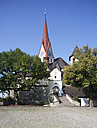 Austria,Vorarlberg, Rankweil, View of Fortified Liebfrauenbergkirche - WW003156
