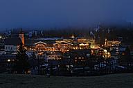 Austria, Tyrol, Schwaz, Achenkirch at Achensee by night - GF000364