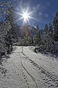 Austria, Tyrol, Eng, Grosser Ahornboden, snow covered landscape - GFF000374