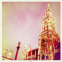 Town Hall, Frauenkirche, St. Mary's Column, Munich, Bavaria, Germany - GSF000612