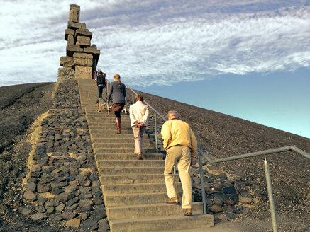 Stockpile Rheinelbe South, stairway to heaven, Industrial Heritage, Gelsenkirchen, Ruhr Area, North Rhine-Westphalia, Germany - ON000256