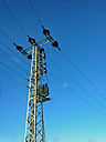 Power pole in rural area, North Rhine-Westphalia, Germany - ONF000276