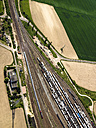 freight train and tracks, Grosskorbetha, Saxony-Anhalt, Germany - FB000104