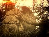 Cologne, North Rhine-Westphalia, Germany, angel on a grave, Melatenfriedhof - JATF000534