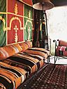 Oriental Bank in a tent, Marakech, Morocco - SE000391