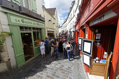 France, Paris, 18th arrondissement, Montmartre, view to Rue Norvins - LB000481