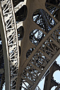 France, Paris, 7th arrondissement, part of Eiffel Tower - LB000485