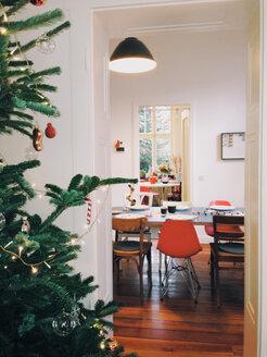 Christmas tree and living room deco, Bonn, North Rhine-Westphalia, Germany - MEAF000066