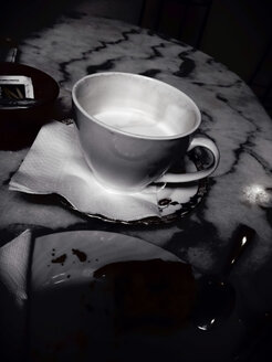 Cup of coffe, noir style, Palermo, Sicily, Italy - MEAF000101