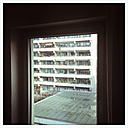 View from the window, urbanity, high-rise, 70s, Architecture, Tristesse, Neuhausen, Munich, Bavaria, Germany - GSF000648