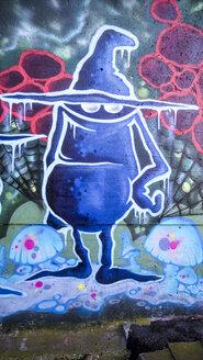 Graffiti, dam, Vaihingen-Enz, Baden-Wuerttemberg, Germany - SBDF000411