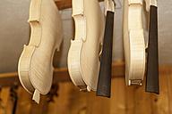 Unfinished violins in a violin maker's workshop - TCF003800