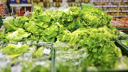 Salads in the supermarket, Bavaria, Germany - MAE007602