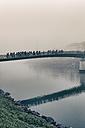 Austria, Salzburg State, Salzburg, Marktsteg in fog - GF000388