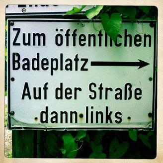 Sign, Walchstadt, Bavaria, Germany - GSF000673