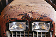 Germany, Baden-Wuerttemberg, detail of an old tractor - EL000806