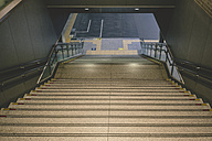 Japan, Osaka, staircase at railway station - FL000368