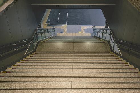 Japan, Osaka, staircase at railway station - FL000368