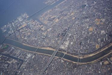 Japan, Osaka, birds eye view - FLF000358