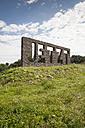 Germany, North Rhine-Westphalia, Kamen, art project Ueber Wasser Gehen at Seseke, Jetzt by Christian Hasucha - WI000303
