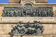 Germany, Hesse, Ruedesheim, View of Niederwalddenkmal memorial, relief - WDF002205
