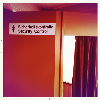 Cabin for women, safety check at airport Berlin Tegel, Germany - ZM000124