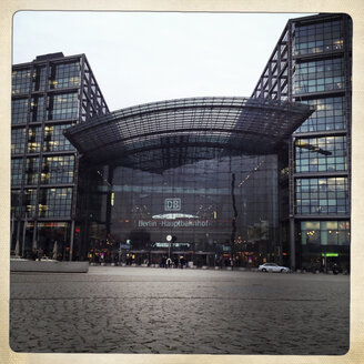 Entrance to Berlin main train station, Germany. - ZM000134