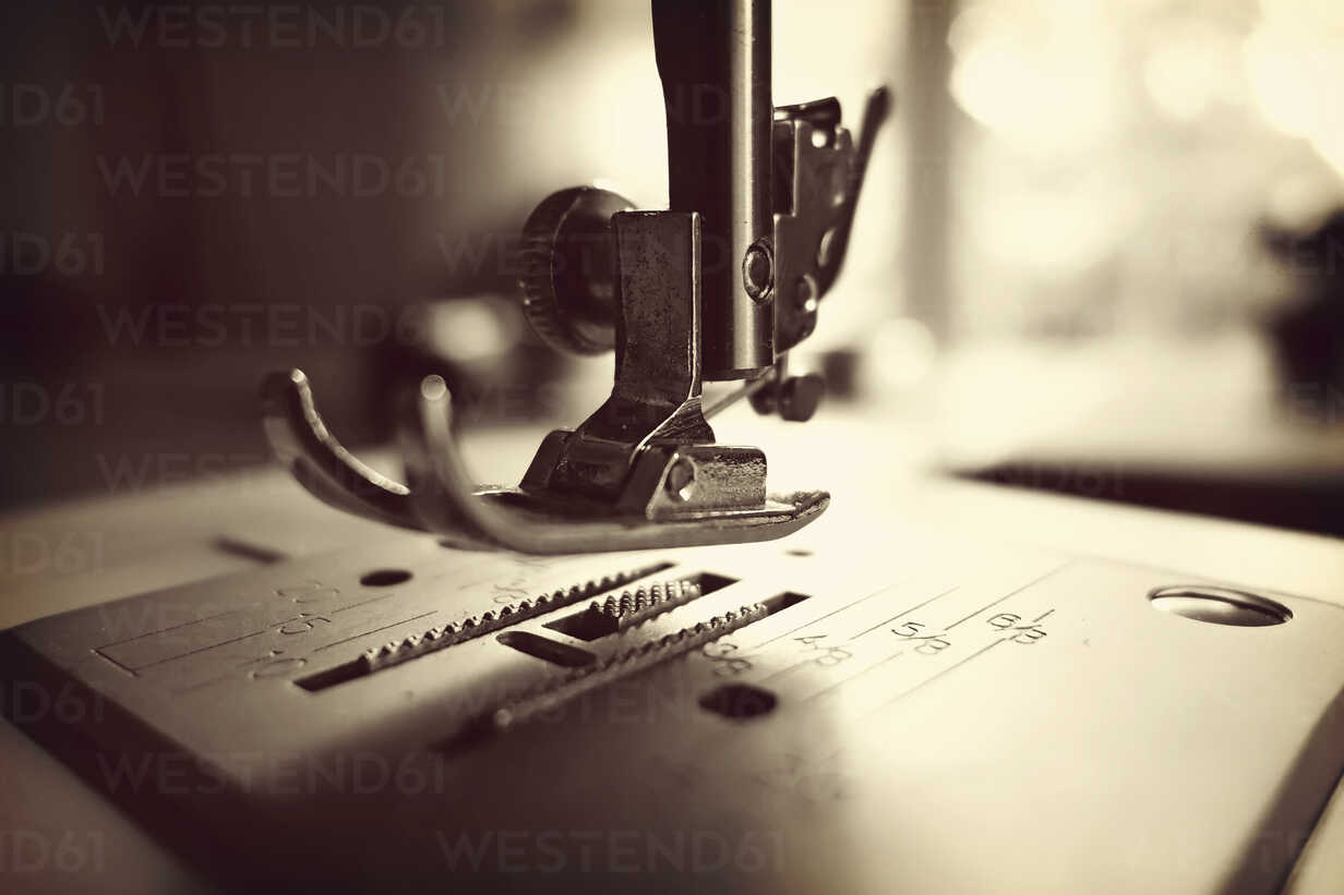 Germany, Minden, sewing machine, close up - HOHF000371 - Fotomaschinist/Westend61
