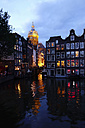Netherlands, North Holland, Amsterdam, Oudezijds Voorburgwal in the evening - HOHF000373