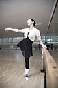Germany, Bavaria, female ballet dancer at a rehearsal - VTF000071