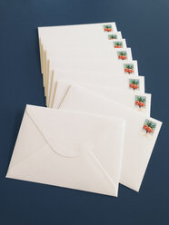 Envelopes with stamps 60ct laying on a table - MF000784