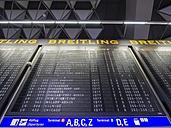 Germany, Hesse, Frankfurt, Terminal 1, display pannel at departure lounge - AM001727