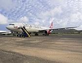 Caribbean, Antilles, Lesser Antilles, Saint Lucia, airport with landed Airbus A330-300 of Virgin Atlantic - AM001723