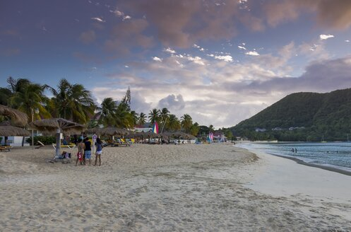 Caribbean, Antilles, Lesser Antilles, Saint Lucia, beach near Rodney Bay - AM001700