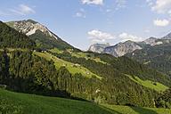 Austria, Vorarlberg, Great Walser Valley, View from Fontanella, left mountain Blasenka - SIEF004984