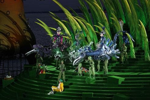 Austria, Vorarlberg, Bregenz, opera he Magic Flute at Bregenz Festival Bregenz Festival - SIE005003