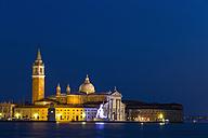 Italy, Venice, San Giorgio Maggiore at night - FOF005822