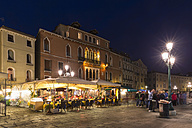 Italy, Venice, Promenade at Canale di San Marco at night - FO005645